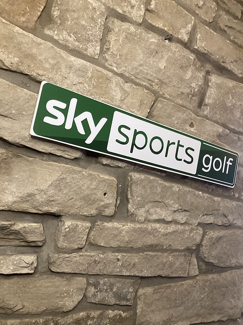 Sky Sports Golf Wooden Wall Sign