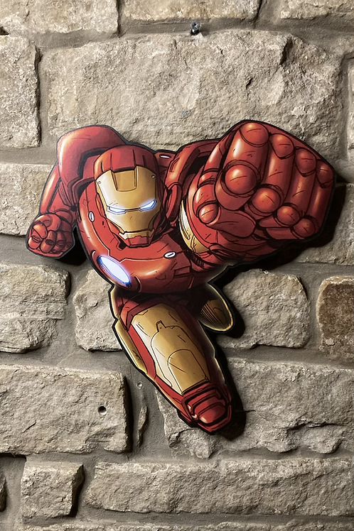 Iron Man Wooden Action Character Cut Out