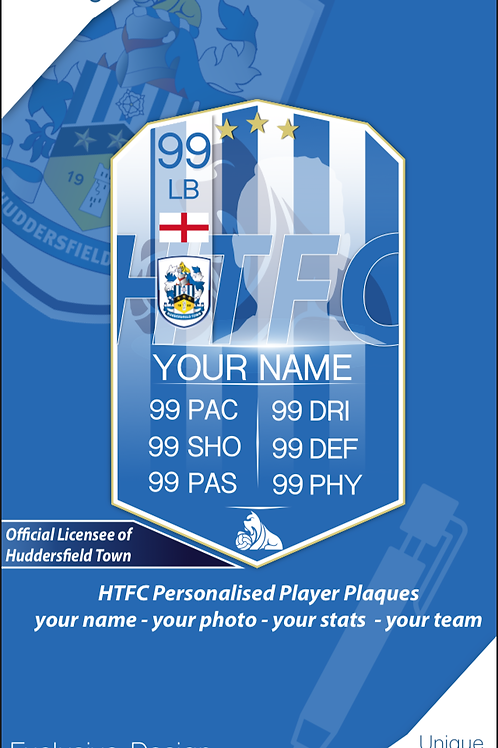 Exclusive HTFC Licensee Personalised Player Plaques
