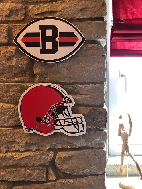 imake NFL Cleveland Browns 2020 Wooden wall logo