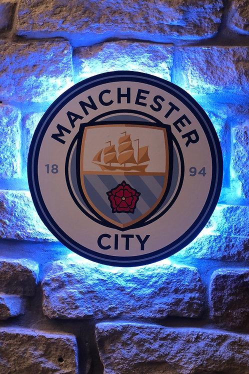 Manchester City wooden Wall LIGHT