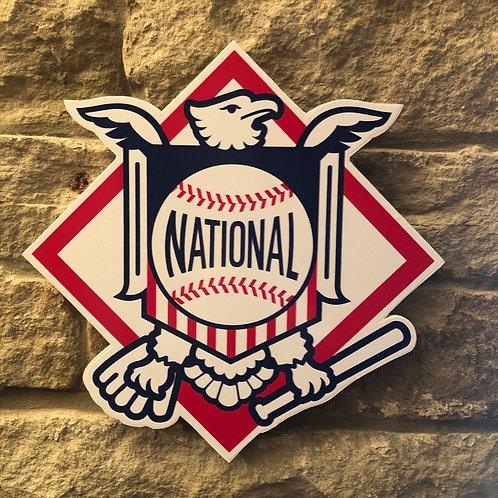 imake MLB National League wooden wall badge