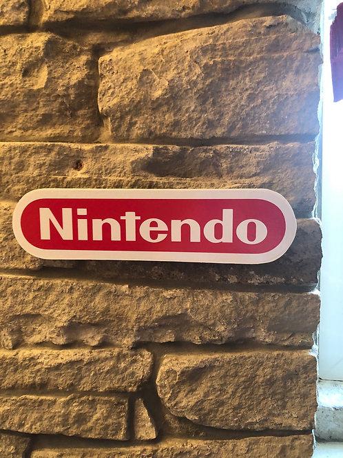 Handmade Wooden Nintendo Wall Logo