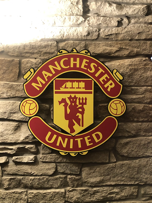 Imake Manchester United FC wooden badge