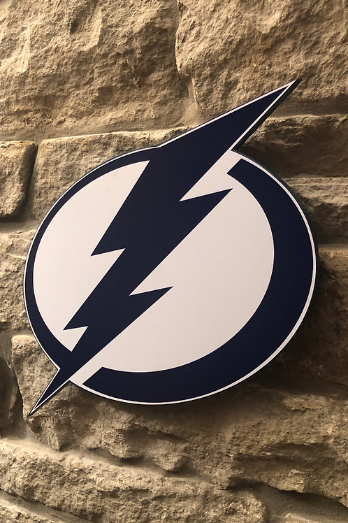 imake NHL Tampa Bay Lightening Wooden Wall Badge