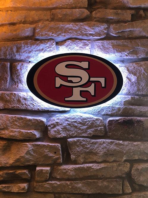 imake NFL San Francisco 49ers 2020 Logo Wall Light