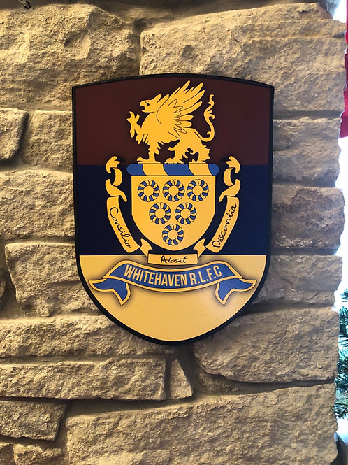 imake Whitehaven RL MDF wall badge