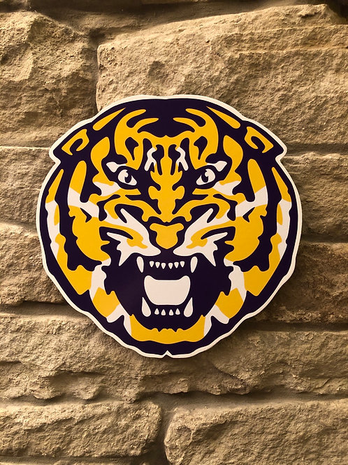 imake NFL LSU  Tiger Head Wooden Wall Badge