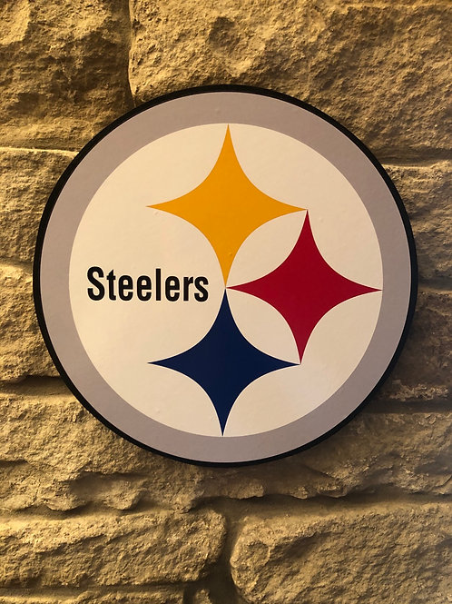imake NFL 2020 Steelers Wooden Logo