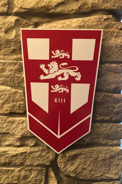imake England Rugby League Wooden Wall badge