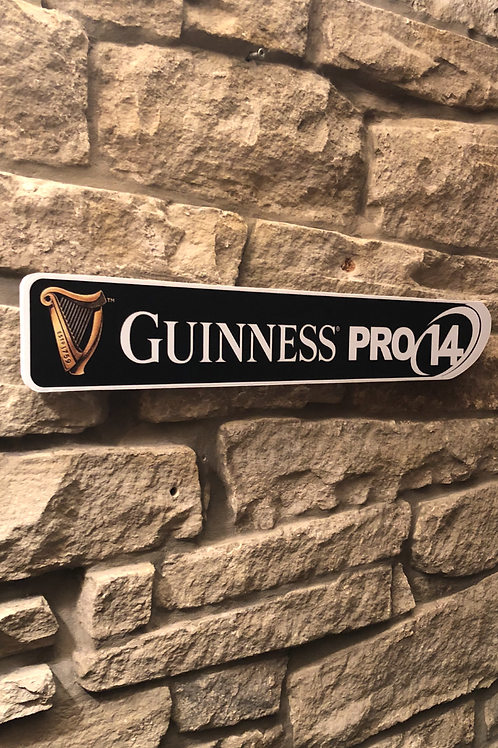 Guinness Pro 14 Wooden Wall Sign