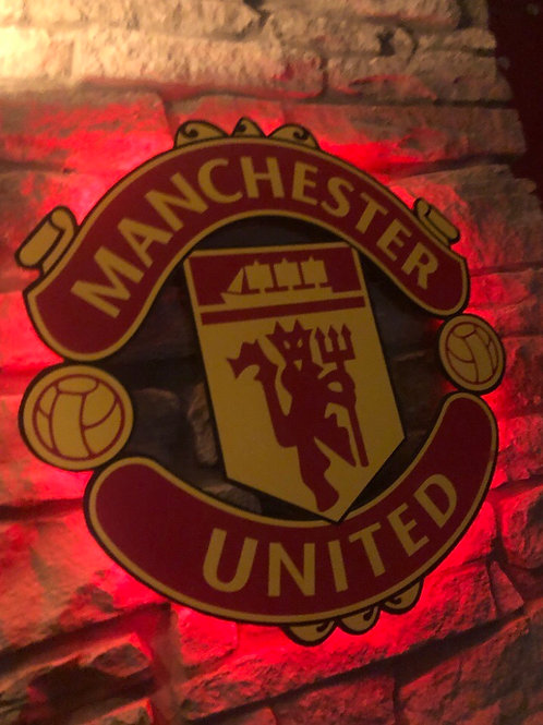 Manchester United Wooden Wall Light
