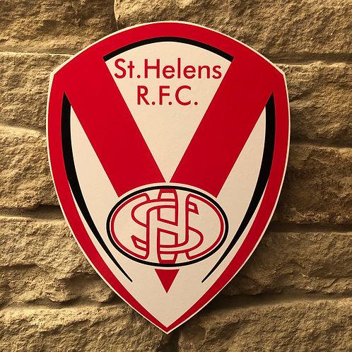 Saint Helens RL MDF Wall Badge