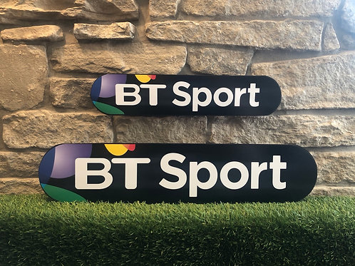 BT Sports Network Signage Wooden Wall Plaque