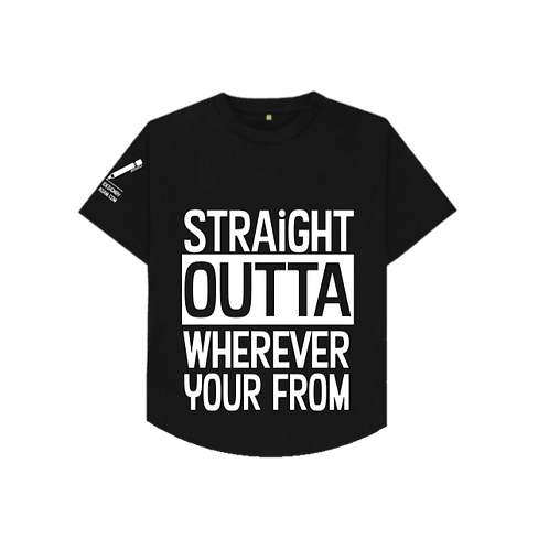 "The idesign ""straight outta"" t-shirt..."