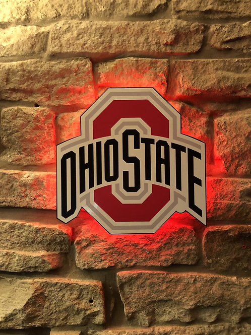 imake Ohio State University Football Wooden Wall Light