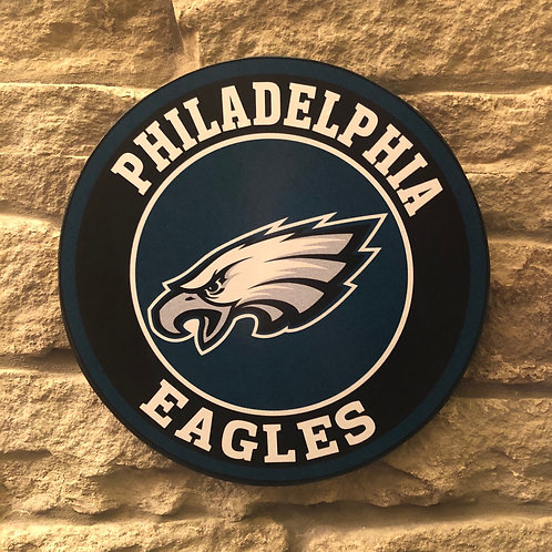 imake NFL Philadelphia Eagles Wooden Wall Badge
