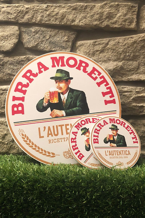 Birra Moretti Wall Badge & Coaster Set
