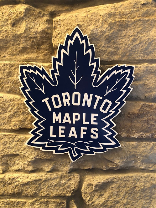imake NHL Toronto Maple Leafs Wooden Wall Badge