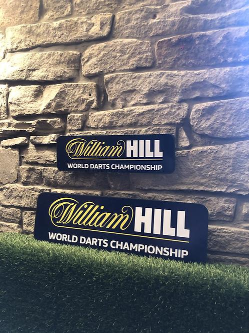 Darts World Championship Wooden Wall Sign