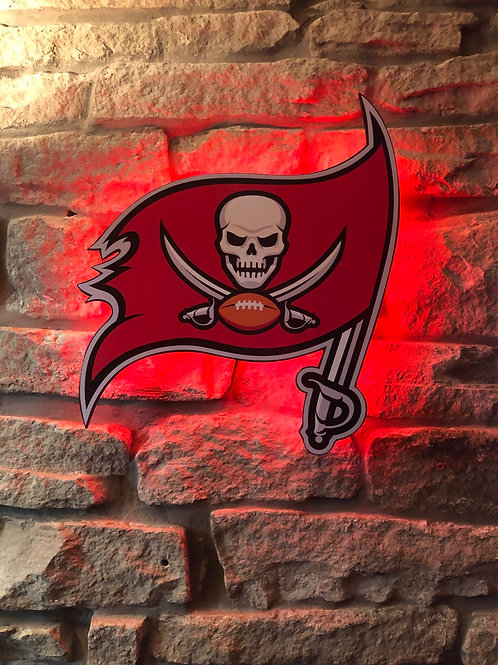 imake NFL Tampa Bay FLAG Wall Light with remote control