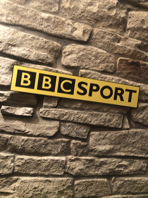 BBC Sports Wooden Wall Sign