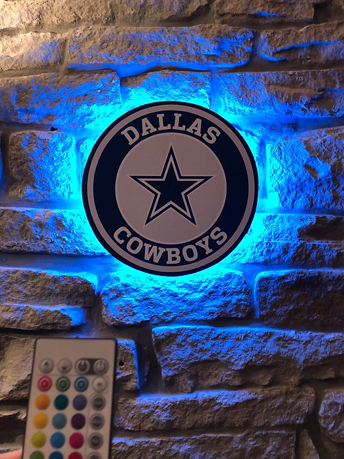 imake NFL Dallas Cowboys Wall Light with remote control