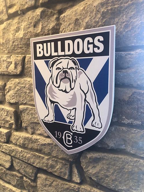 imake NRL Canterbury Bulldogs Wooden Wall badge