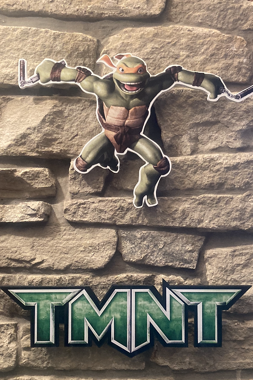 TMNT Mikey Wooden Wall Action Figure Cut Out
