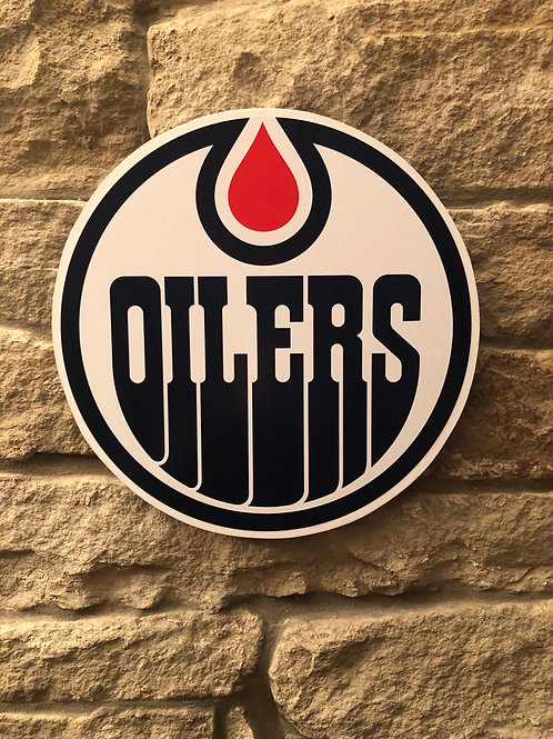 imake NHL Edmonton Oilers Wooden Wall Badge