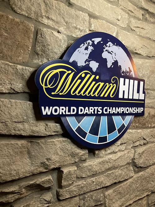 Darts World Championship William Hill Wooden Wall Shield
