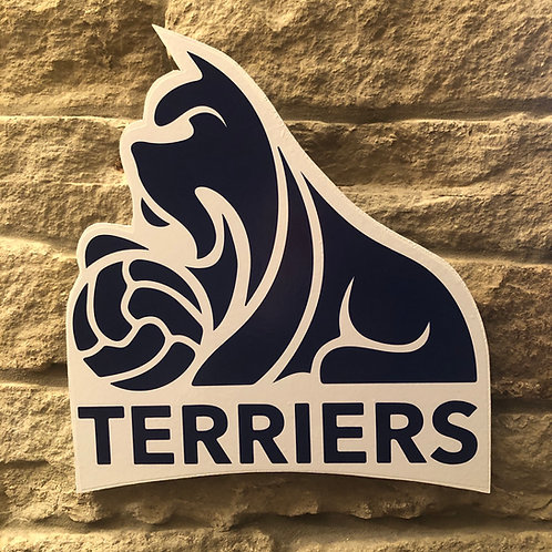 Huddersfield Town TERRIER Wooden Wall Badge