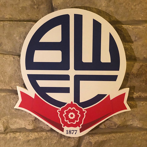 Bolton Wanderers FC Wooden Wall Badge