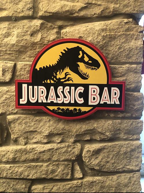 Jurassic Bar Wooden Wall  Plaque