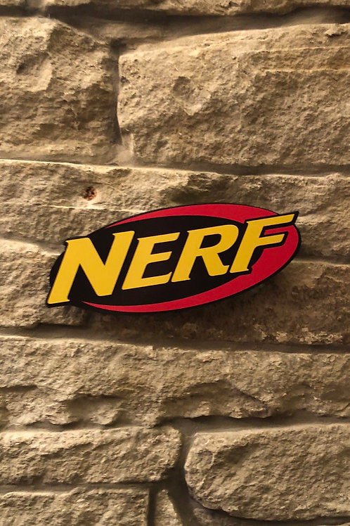 "imake Nerf Wooden Logo! ""It's Nerf or Nothing!"