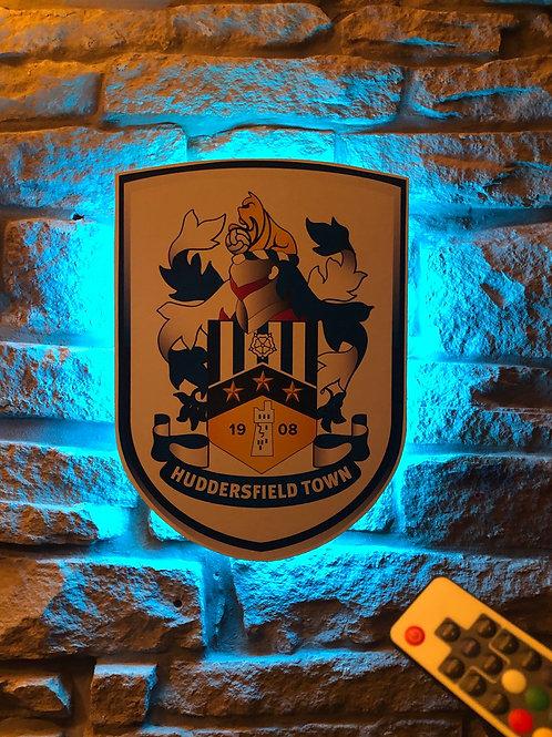imake Huddersfield Town FC Wooden Wall LIGHT