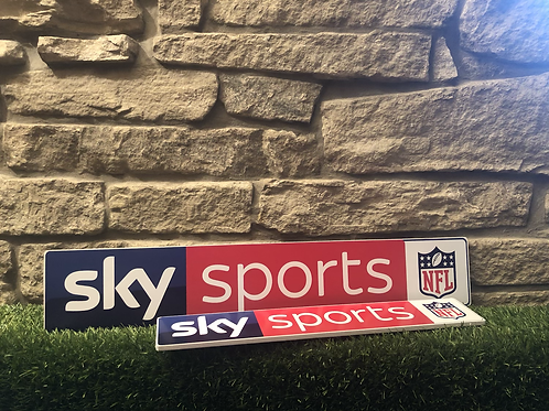 NFL Sky Sports Wooden Wall Sign
