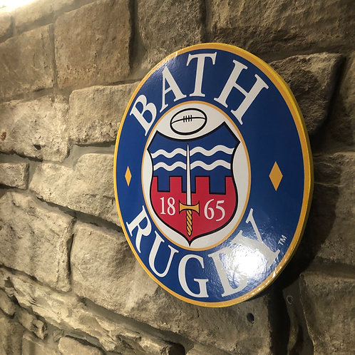 Bath Rugby MDF Wall Badge