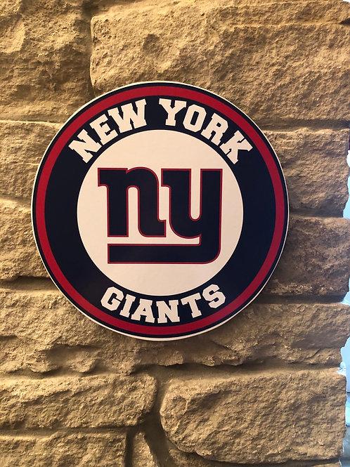 imake NFL New York Giants Wooden Wall Badge
