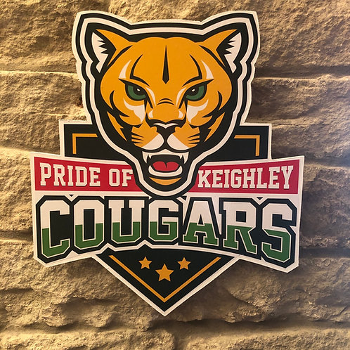 imake Keighley Cougars RL MDF wall badge