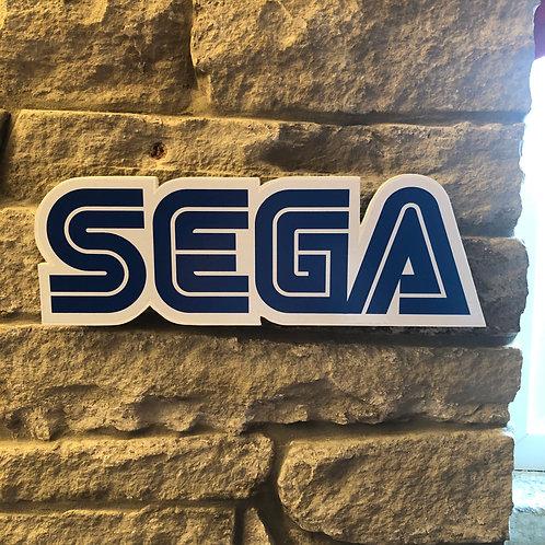 Handmade Wooden SEGA Wall Logo