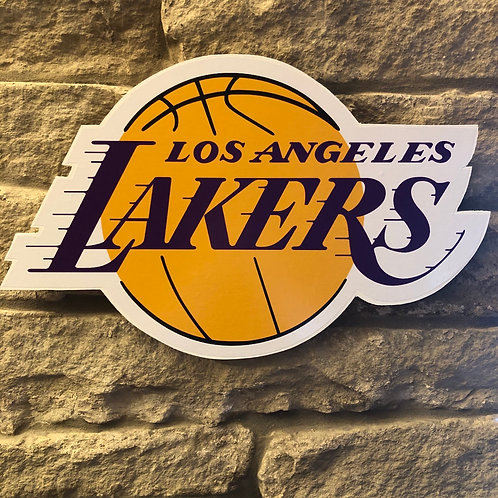 imake NBA LA Lakers Wooden Wall Badge