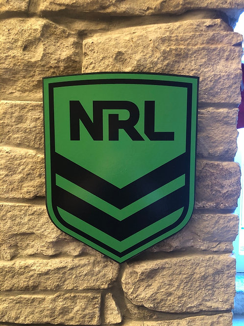 imake NRL Australian Rugby League Wooden Wall badge