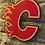 Thumbnail: imake NHL Calgary Flames Wooden Wall Badge