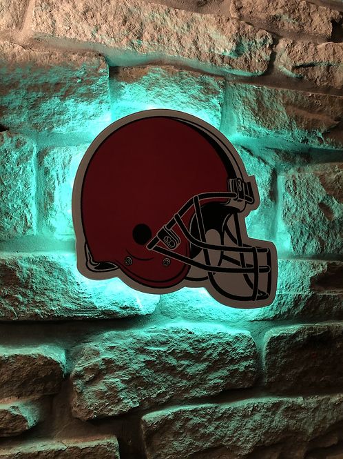 imake NFL Cleveland Brown's Wall Light with remote control