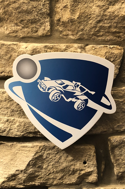 Rocket League Wooden Wall logo