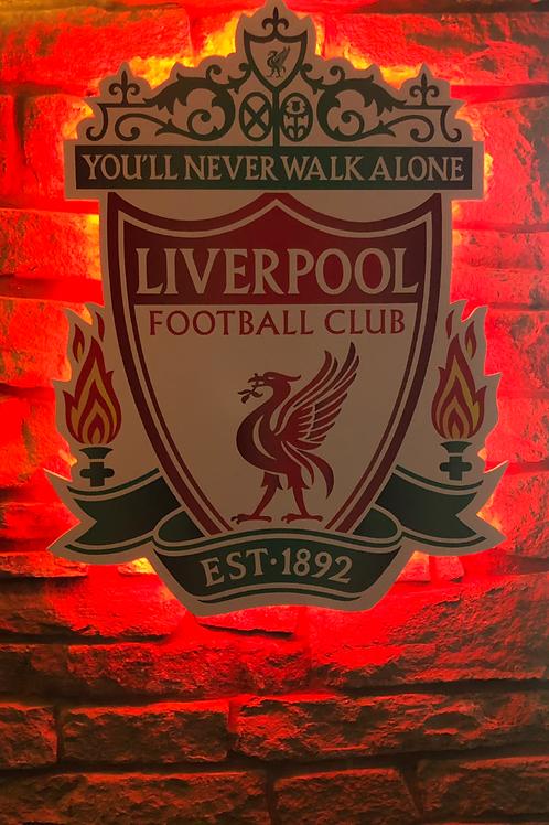 handmade wooden wall Liverpool Crest Wall Light