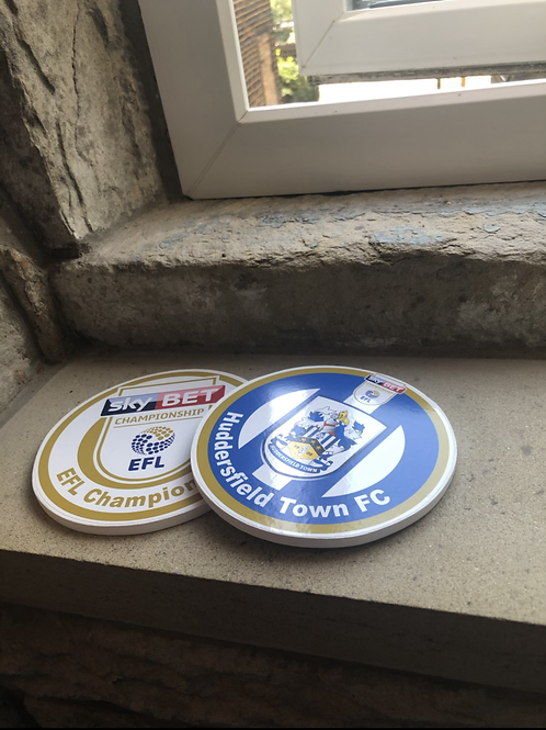 Exclusive Huddersfield Town Wooden Coaster Range