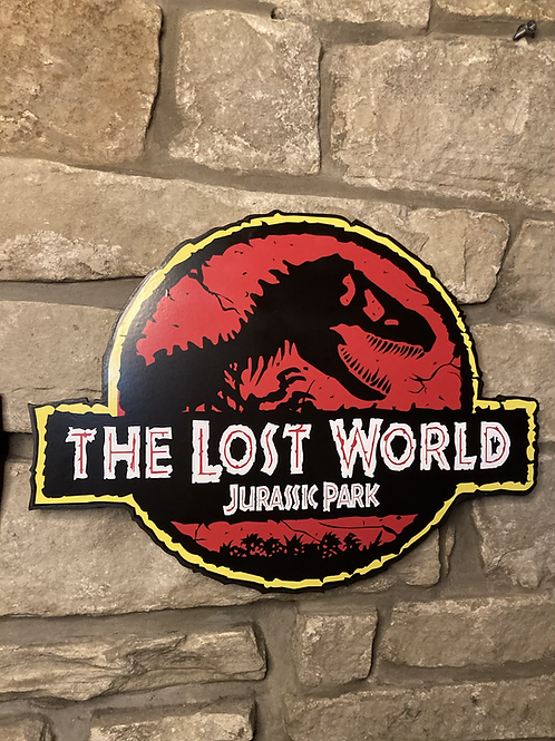 Jurassic Park - The Lost World Wooden Wall Badge