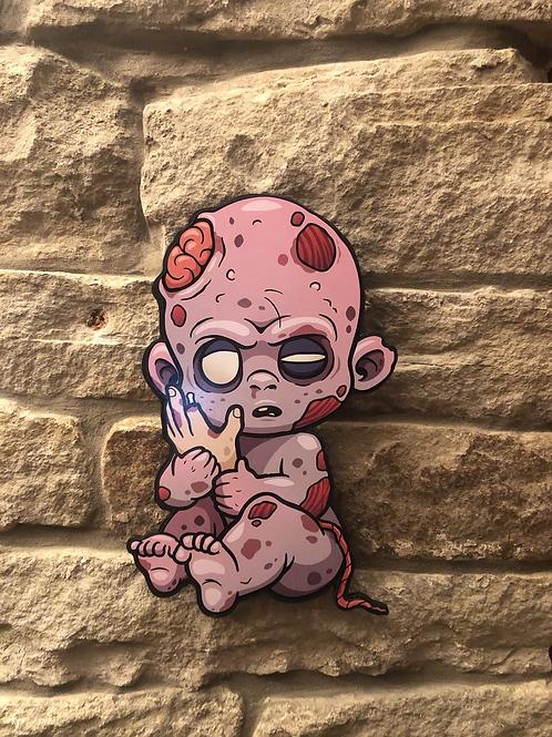 Zombie Baby Wooden Figure